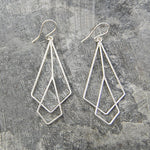 Art Deco Silver Dangle Earrings
