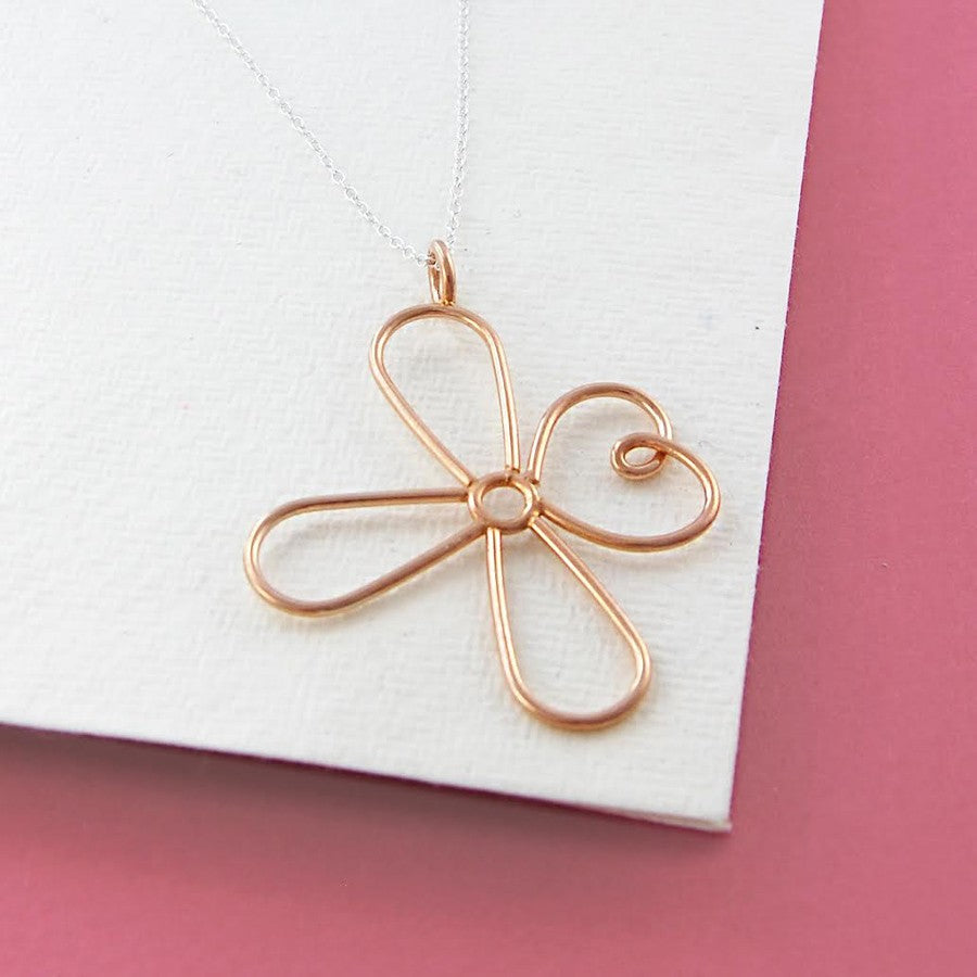 Rose Gold Flower Pendant