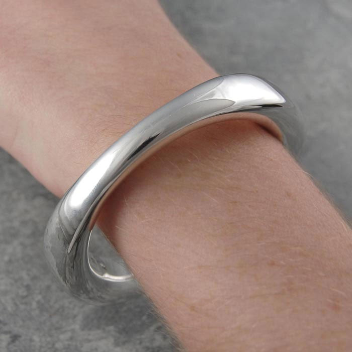Flowing Chunky Silver Bangle - Otis Jaxon Silver Jewellery