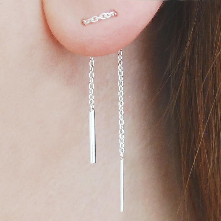 Solid Sterling Silver Threader Earrings