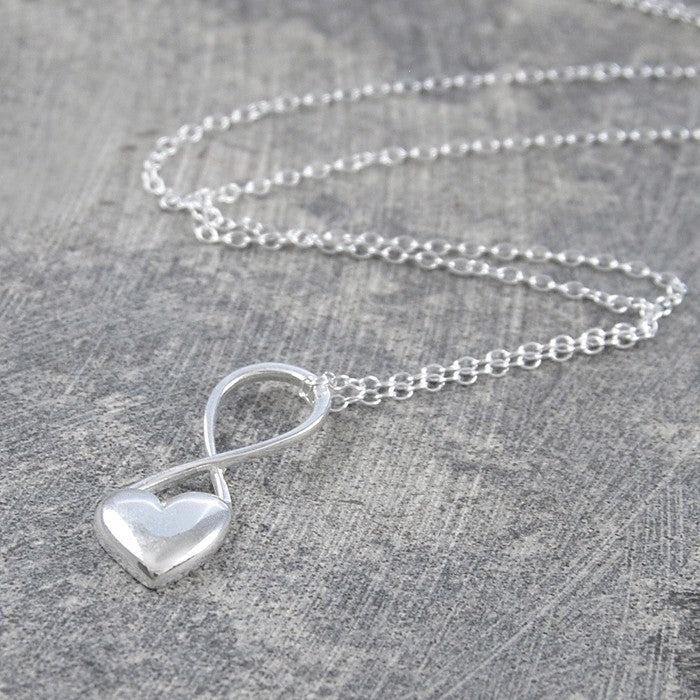 Heart Silver Infinity Necklace - Otis Jaxon Silver Jewellery