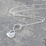Heart Silver Infinity Necklace