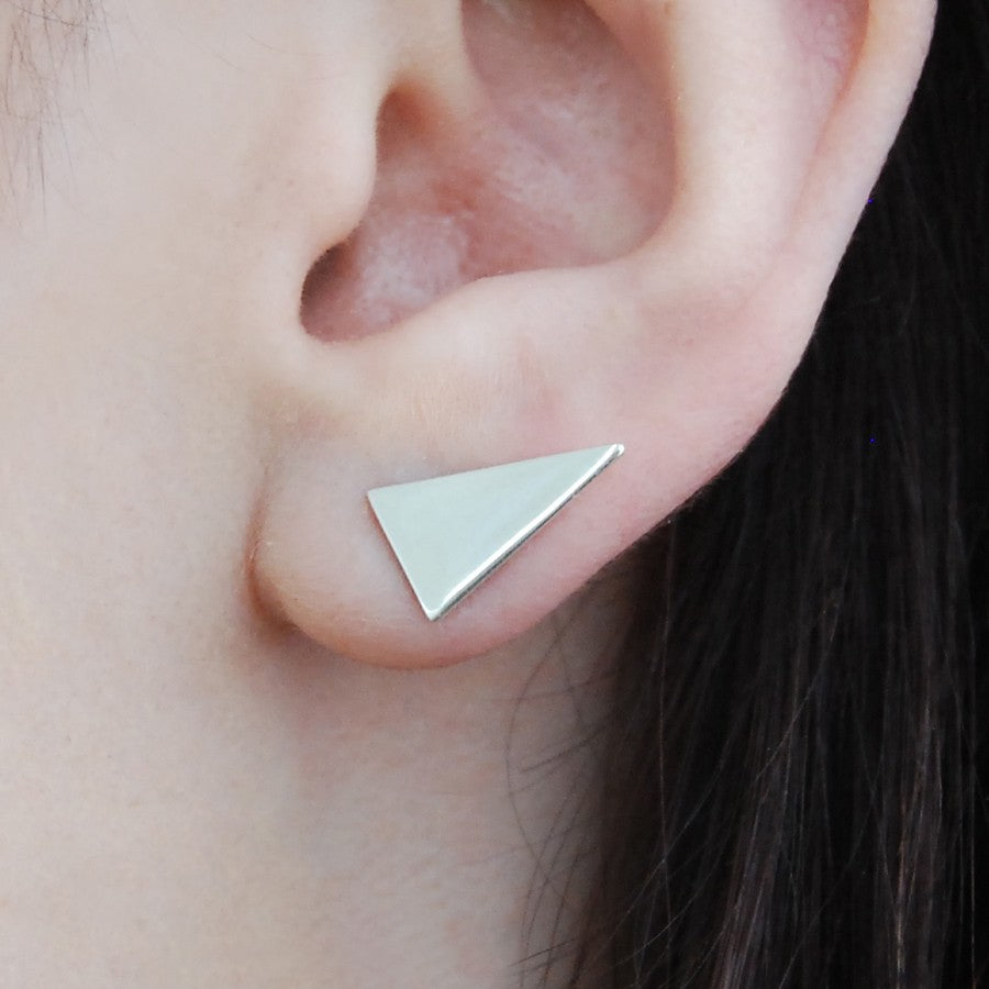 Triangle Silver Ear Jackets