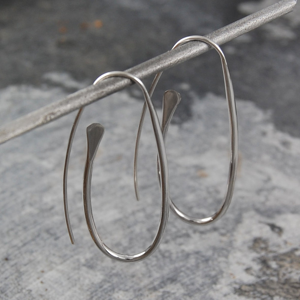 Paperclip Long Silver Drop Earrings - Otis Jaxon Silver Jewellery