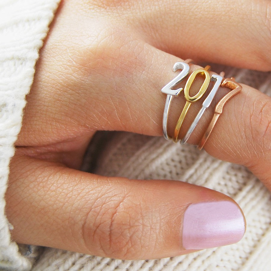 Silver and Gold Number Ring