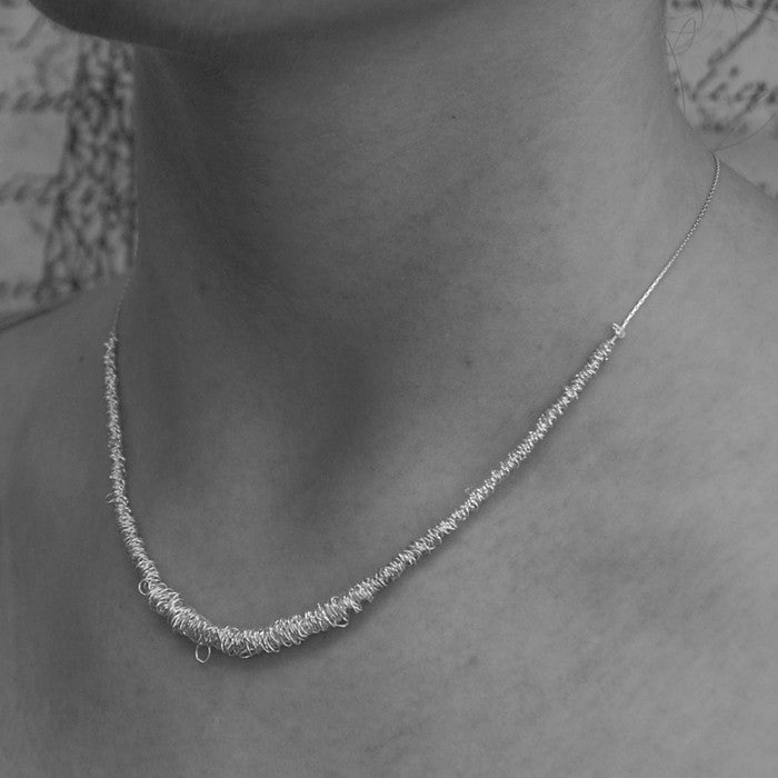 Loops Silver Wire Necklace - Otis Jaxon Silver Jewellery