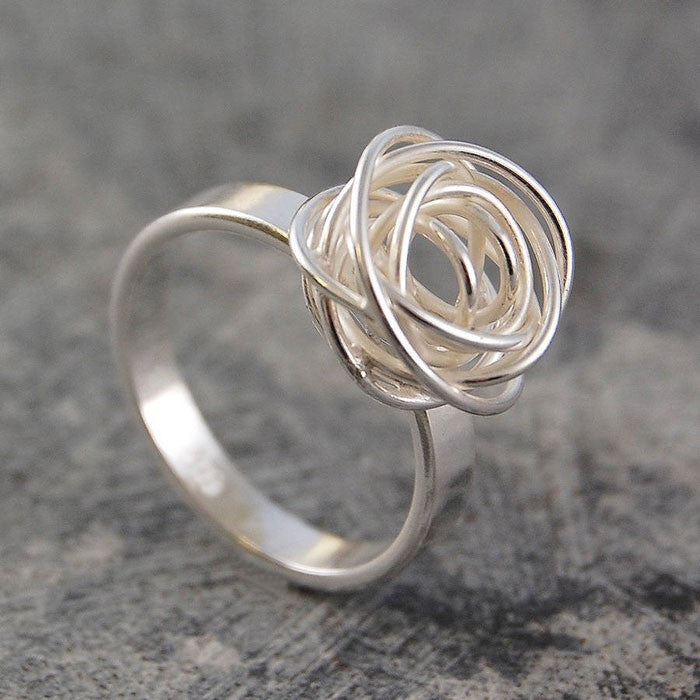 Nest Contemporary Silver Ring