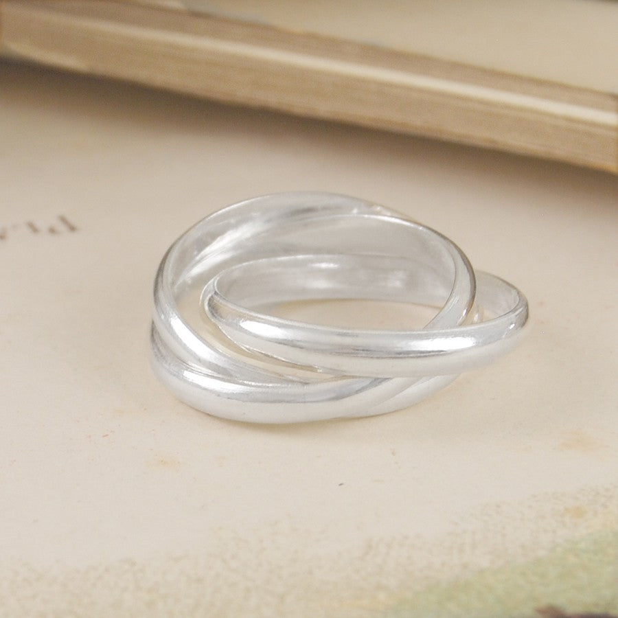 Triple Russian Silver Ring - Otis Jaxon Silver Jewellery
