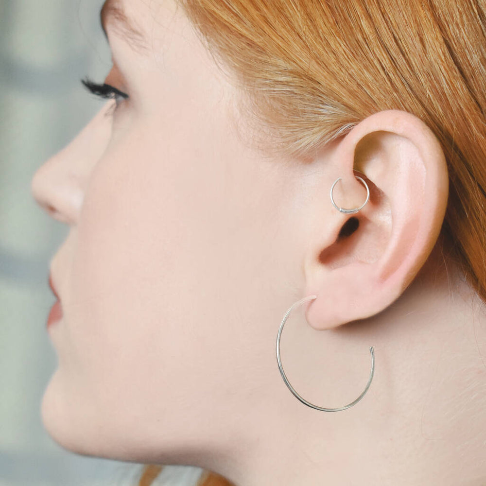 Rose Gold Triangle Ear Cuffs - Otis Jaxon Silver Jewellery