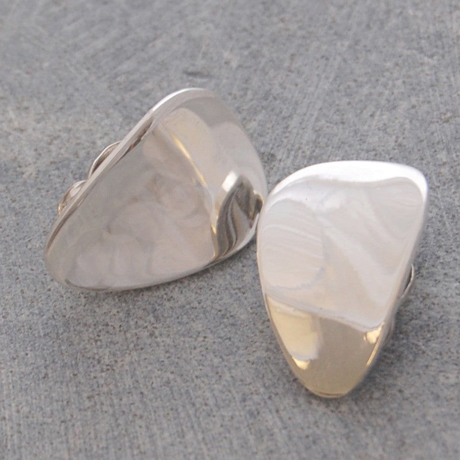 Petal Silver Clip On Earrings - Otis Jaxon Silver Jewellery