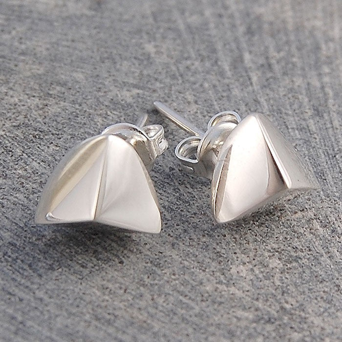 Quarter Ball Silver Stud Earrings - Otis Jaxon Silver Jewellery