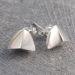 Quarter Ball Silver Stud Earrings