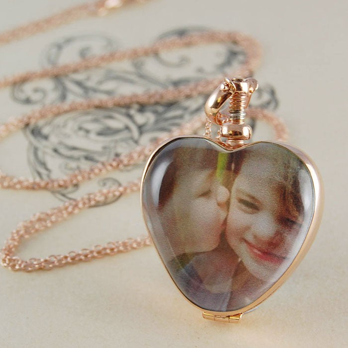 Vintage Gold Heart Locket - Otis Jaxon Silver Jewellery
