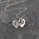 Pearl and Silver Heart Locket Necklace - Otis Jaxon Silver Jewellery