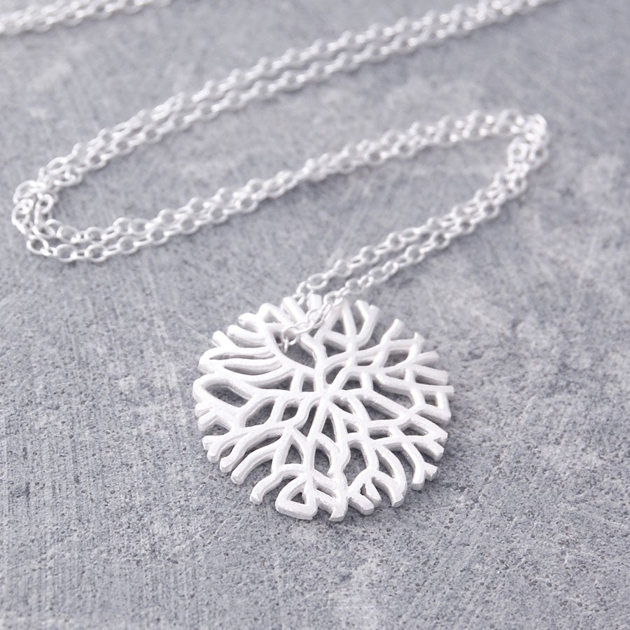 Frost Contemporary Silver Necklace