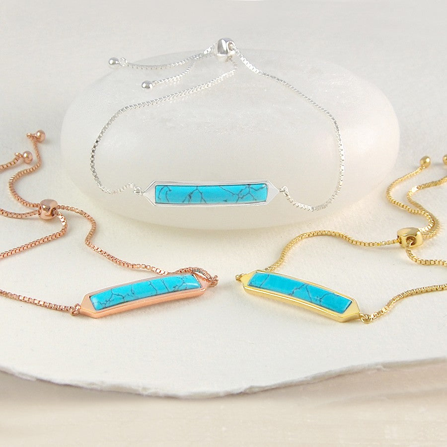 Silver and Gold Turquoise Friendship Bracelet - Otis Jaxon Silver Jewellery