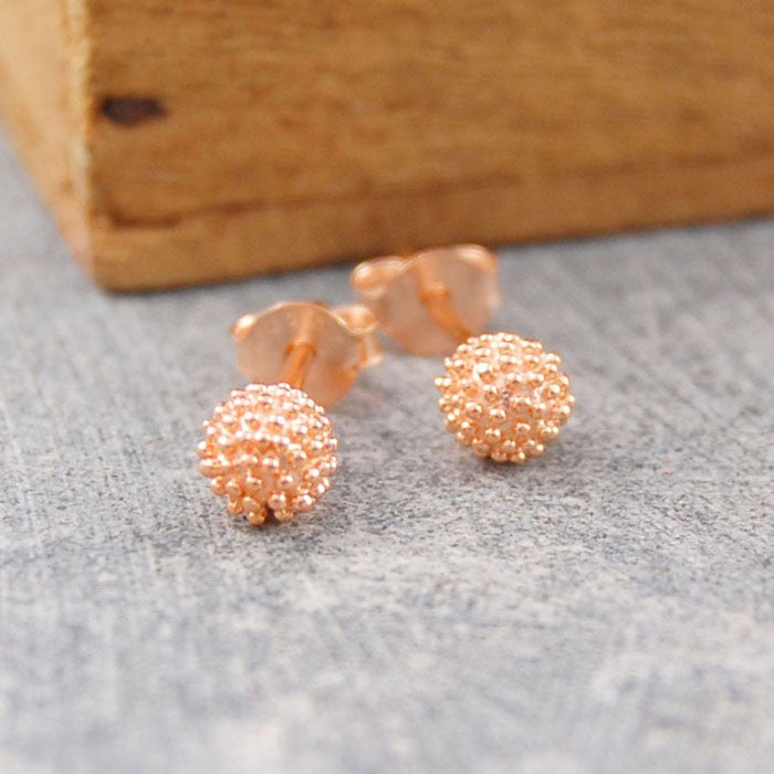 Sycamore Rose Gold Stud Earrings - Otis Jaxon Silver Jewellery