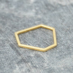 Hexagon Geometric Contemporary Gold Ring