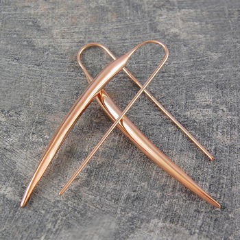 Rose Gold Chilli Pepper Earrings - Otis Jaxon Silver Jewellery
