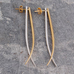 Tusk Gold and Silver Drop Earrings