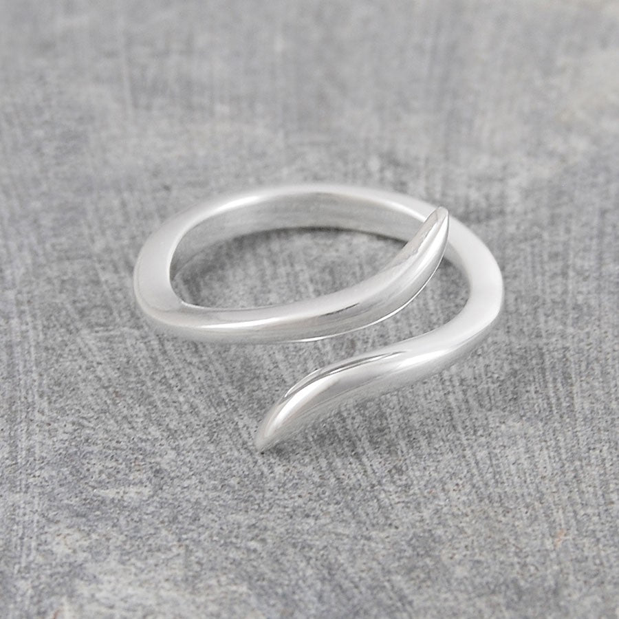 Snake Contemporary Silver Ring