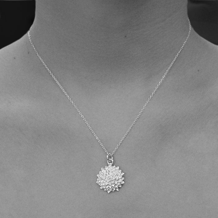 Silver Sunflower Pendant Necklace - Otis Jaxon Silver Jewellery