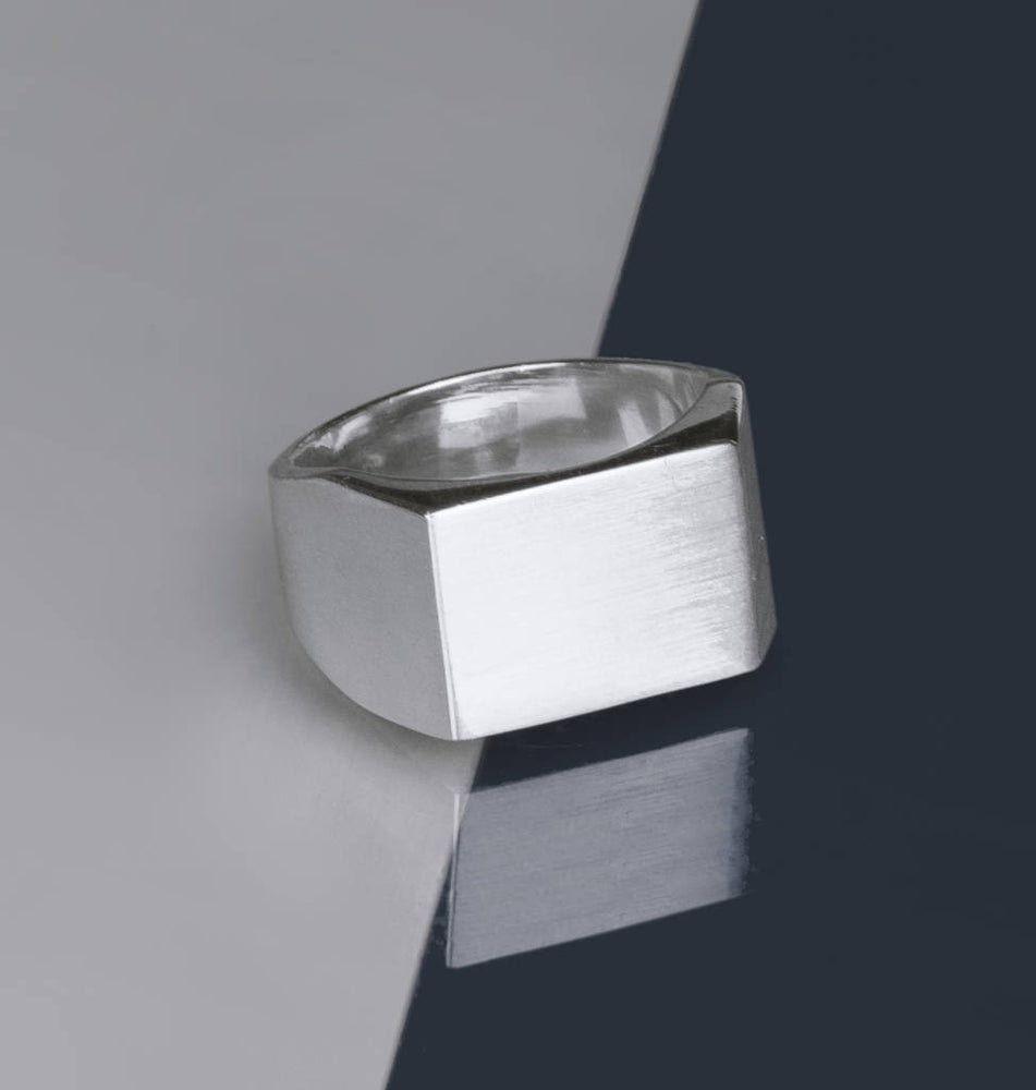 Solid Silver Men's Signet Ring