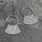 Hammered Grecian Silver Hoop Earrings - Otis Jaxon Silver Jewellery
