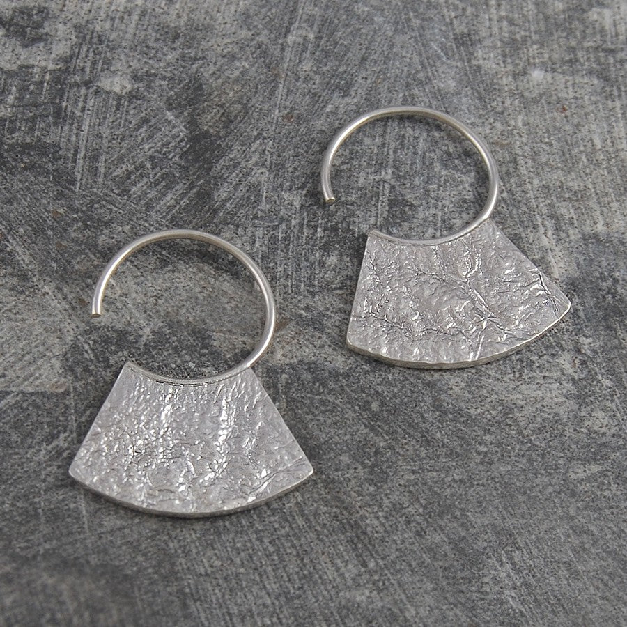Hammered Grecian Gold Hoop Earrings - Otis Jaxon Silver Jewellery