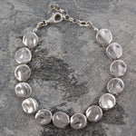 Organic Round Silver Statement Necklace - Otis Jaxon Silver Jewellery