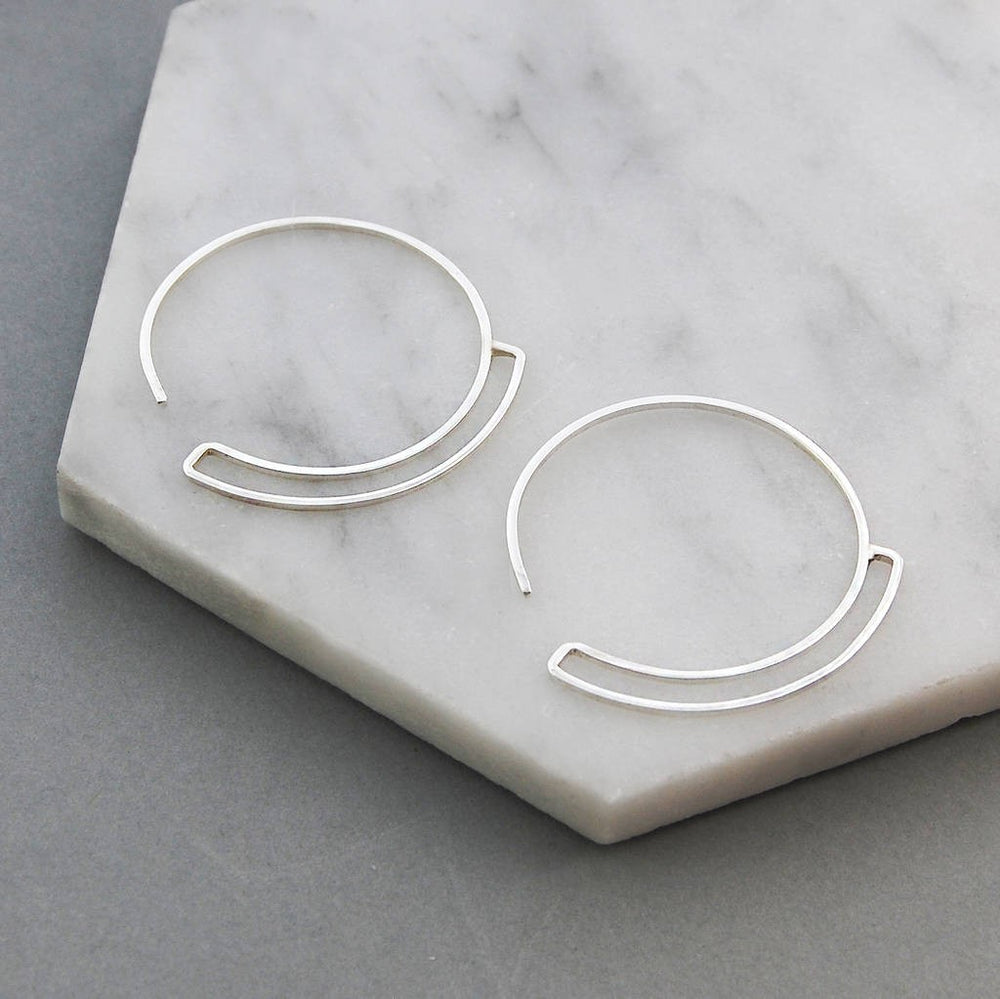 Sterling Silver Curl Hoop Earrings - Otis Jaxon Silver Jewellery