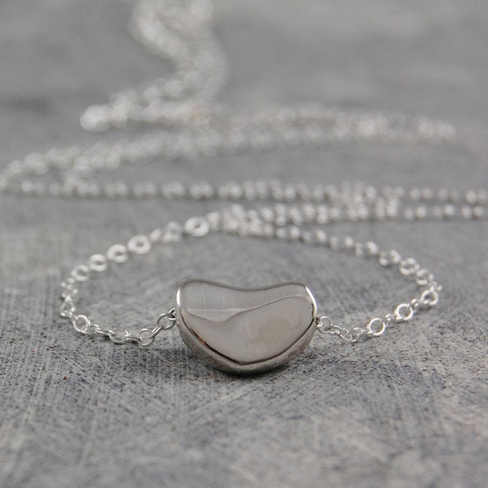 Silver Bean Necklace