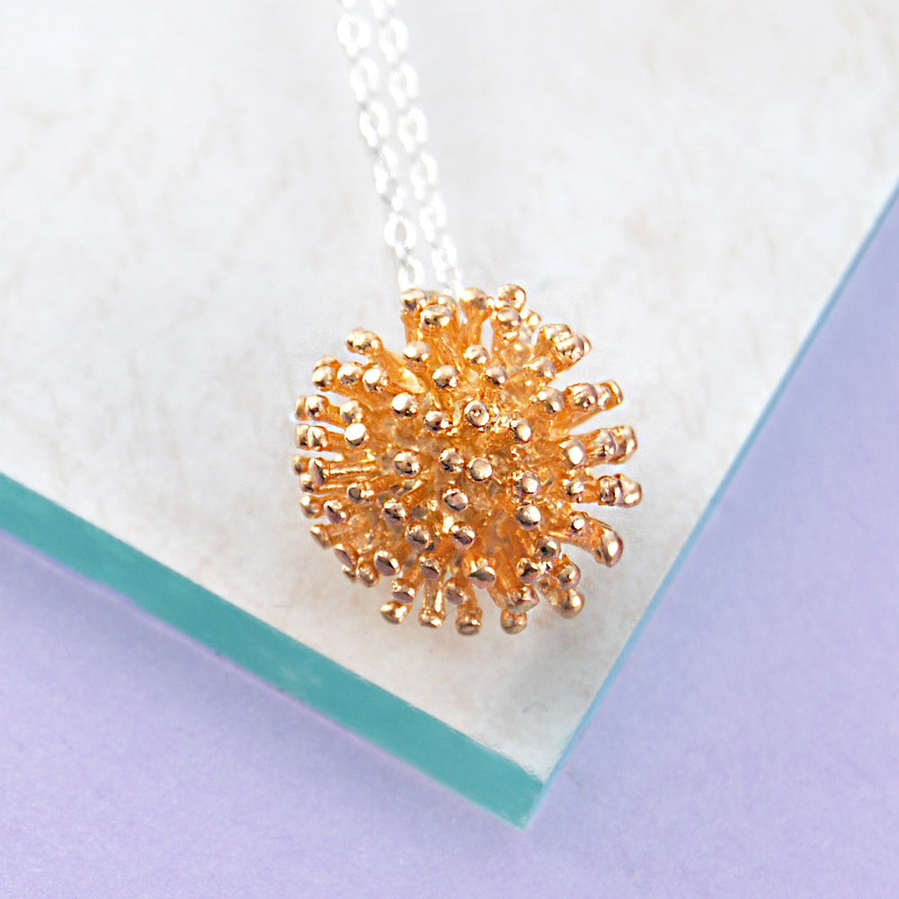 Dandelion Rose Gold Silver Necklace - Otis Jaxon Silver Jewellery