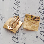Rose Gold Square Clip On Earrings - Otis Jaxon Silver Jewellery