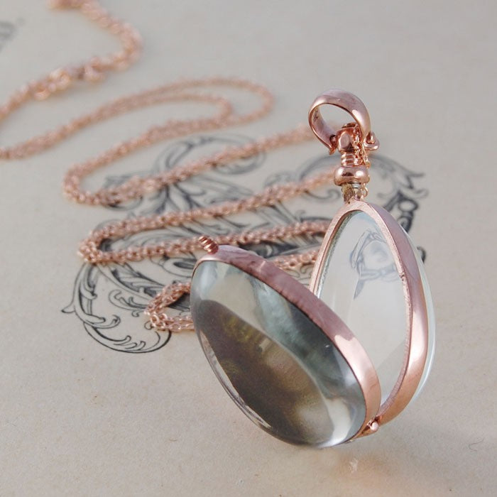 Rose Gold Oval Locket - Otis Jaxon Silver Jewellery