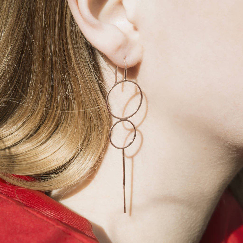 Gold Bubble Statement Drop Earrings