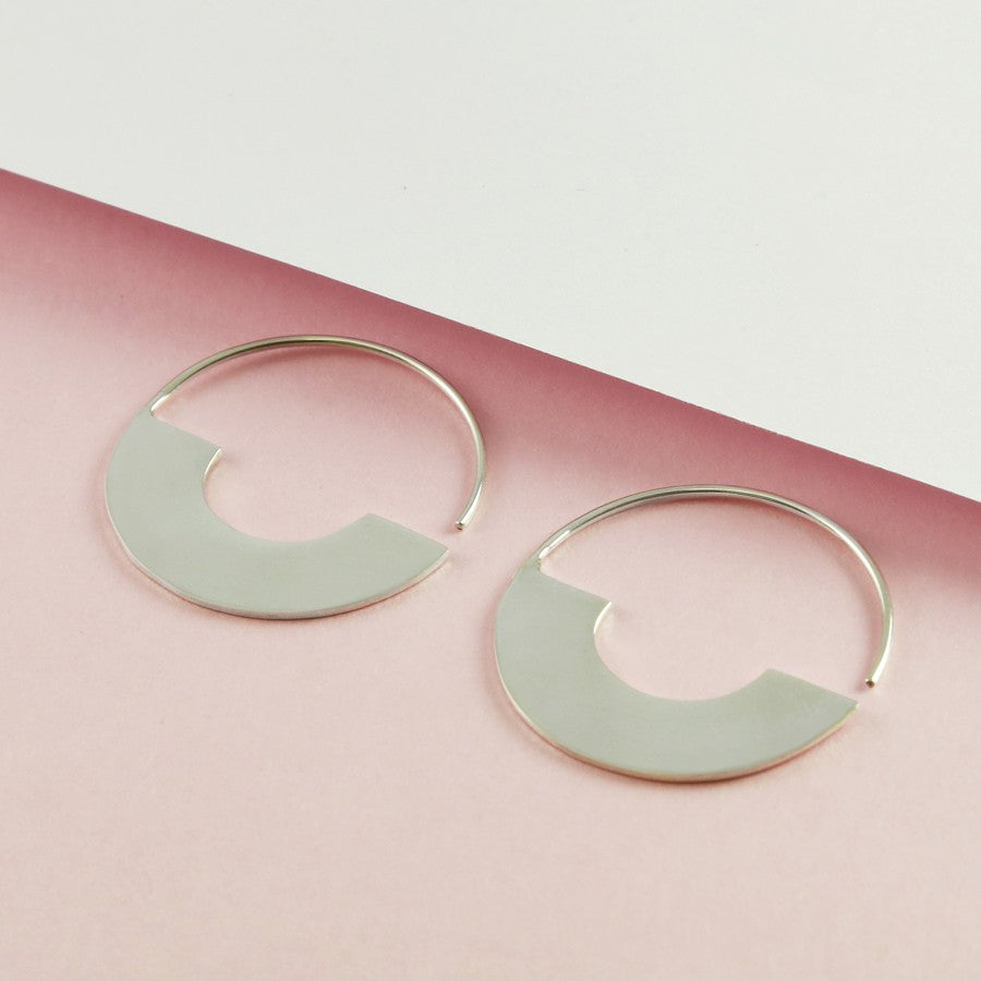 Minimal Silver Hoop Earrings - Otis Jaxon Silver Jewellery