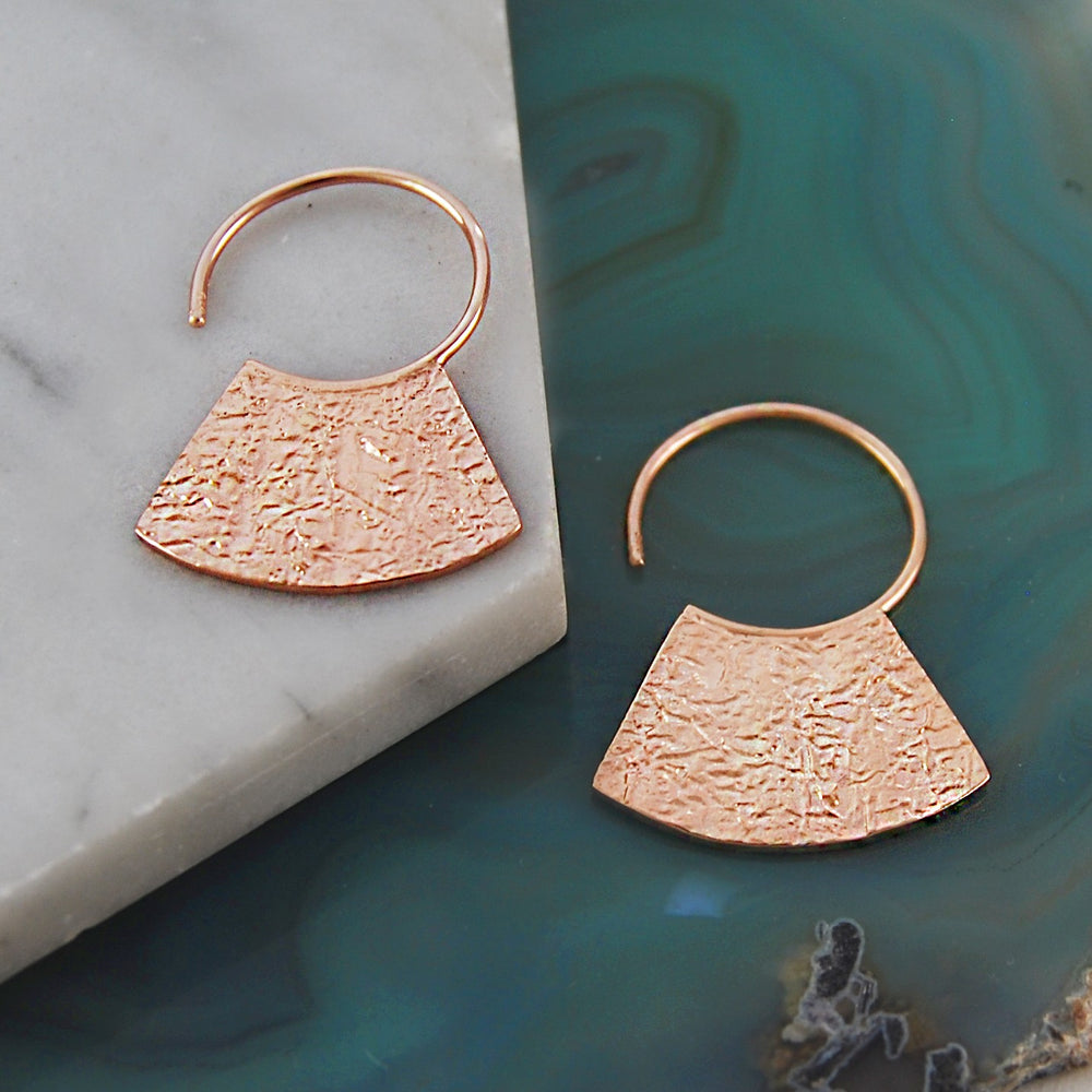 Grecian Rose Gold Hoop Earrings - Otis Jaxon Silver Jewellery