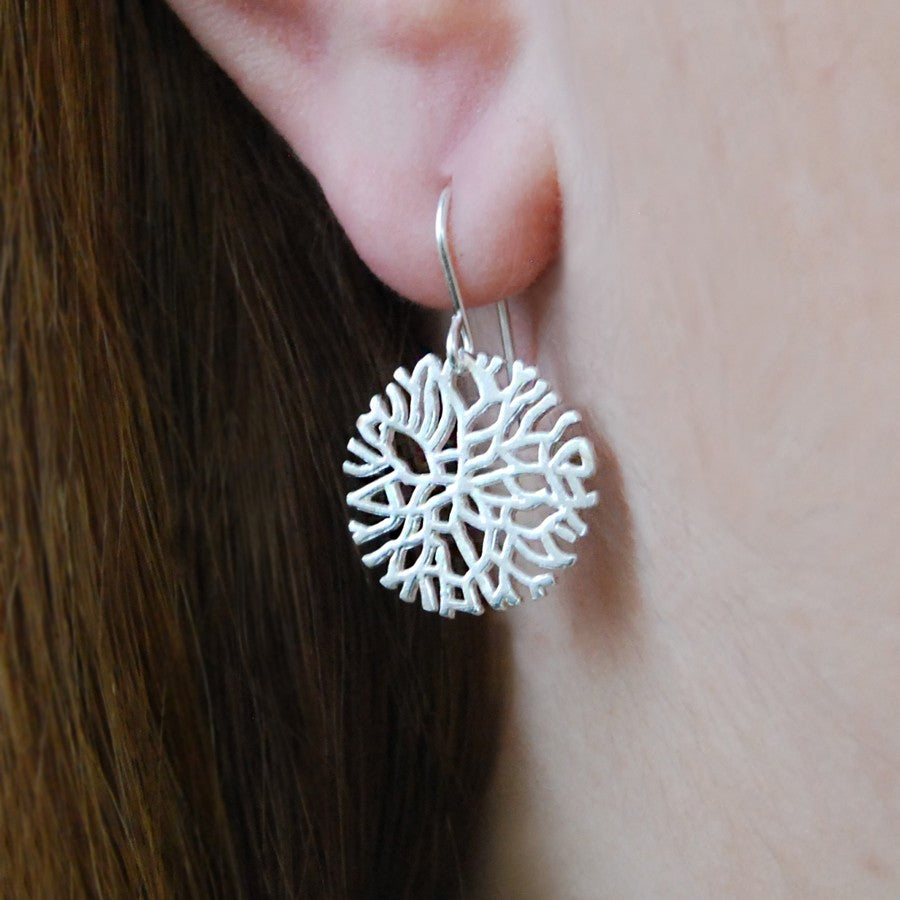 Frost Silver Drop Earrings - Otis Jaxon Silver Jewellery
