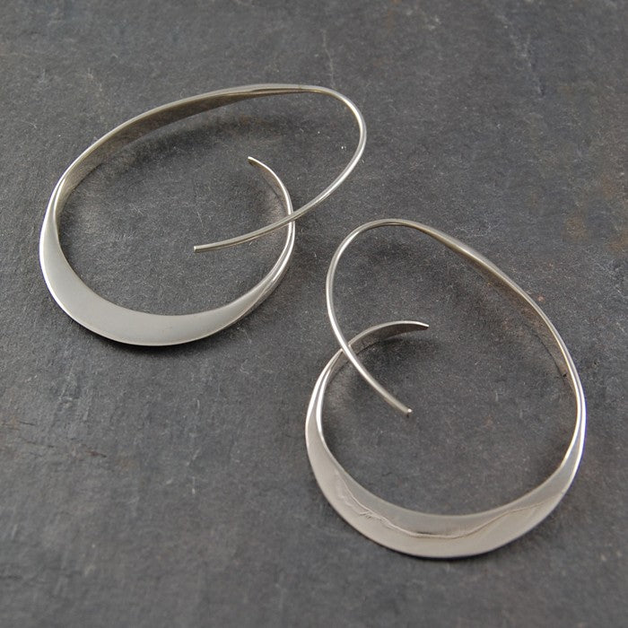 Tapered Gold Hoop Earrings - Otis Jaxon Silver Jewellery