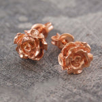 Rose Flower Rose Gold Stud Earrings
