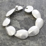 Chunky Sterling Silver Teardrop Statement Necklace