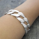 Solid Silver Chunky Square Bracelet