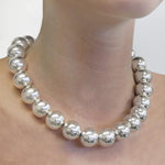 Silver Chunky Ball Necklace