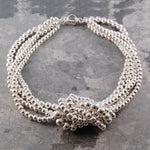 Sterling Silver Knotted Statement Necklace