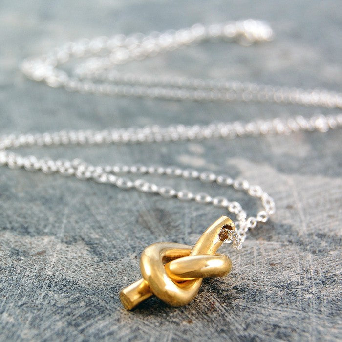 Gold Nautical Knot Necklace - Otis Jaxon Silver Jewellery