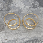 Double Loop Silver Hoop Earrings - Otis Jaxon Silver Jewellery