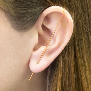 Rose Gold Ear Climber - Otis Jaxon Silver Jewellery