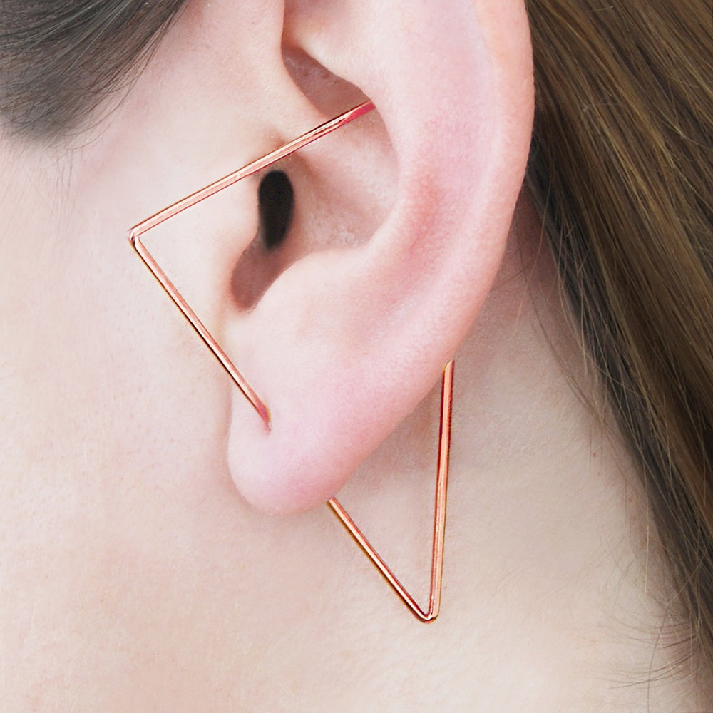 Rose Gold Triangle Ear Cuffs