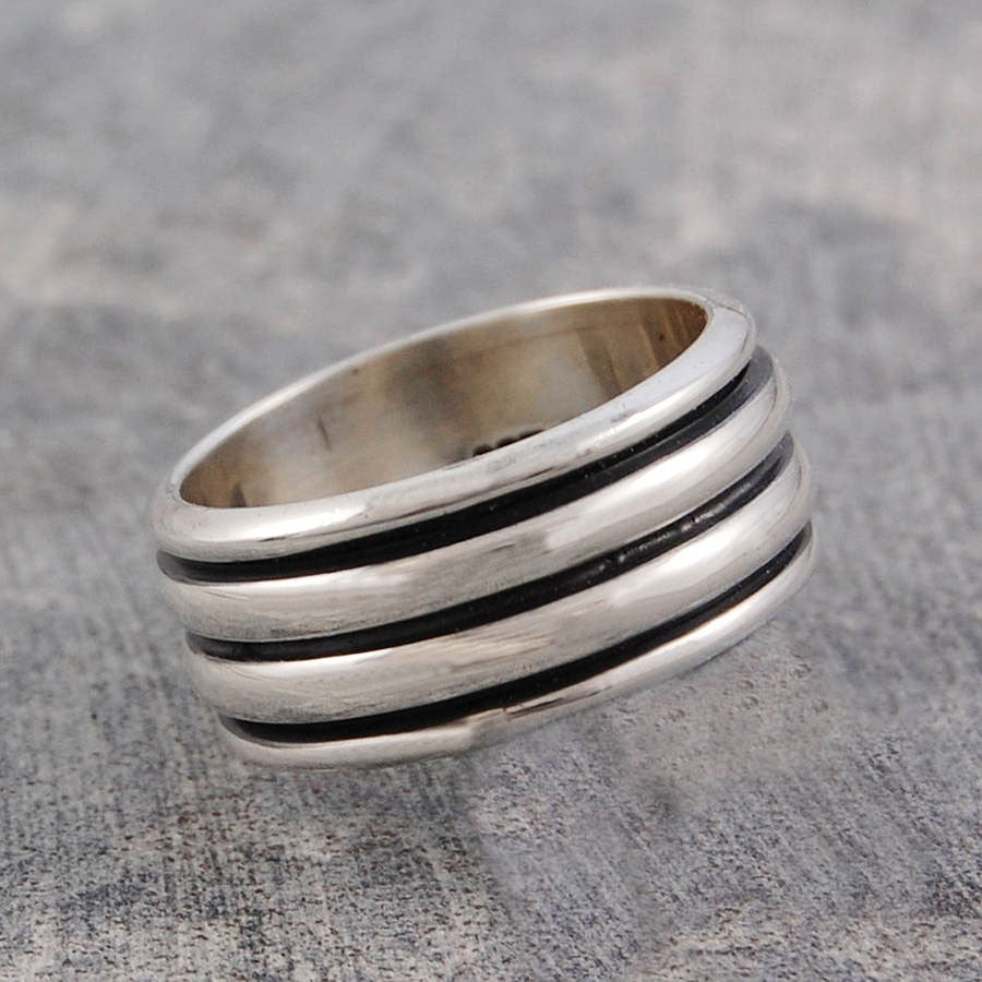 Chunky Spinning Ring For Men